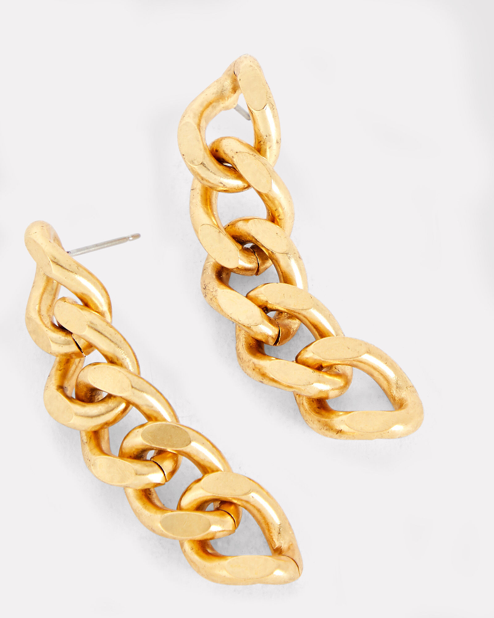 Libby Curb Chain Earrings, GOLD, hi-res