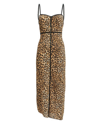 Abir Leopard Dress, LEOPARD, hi-res
