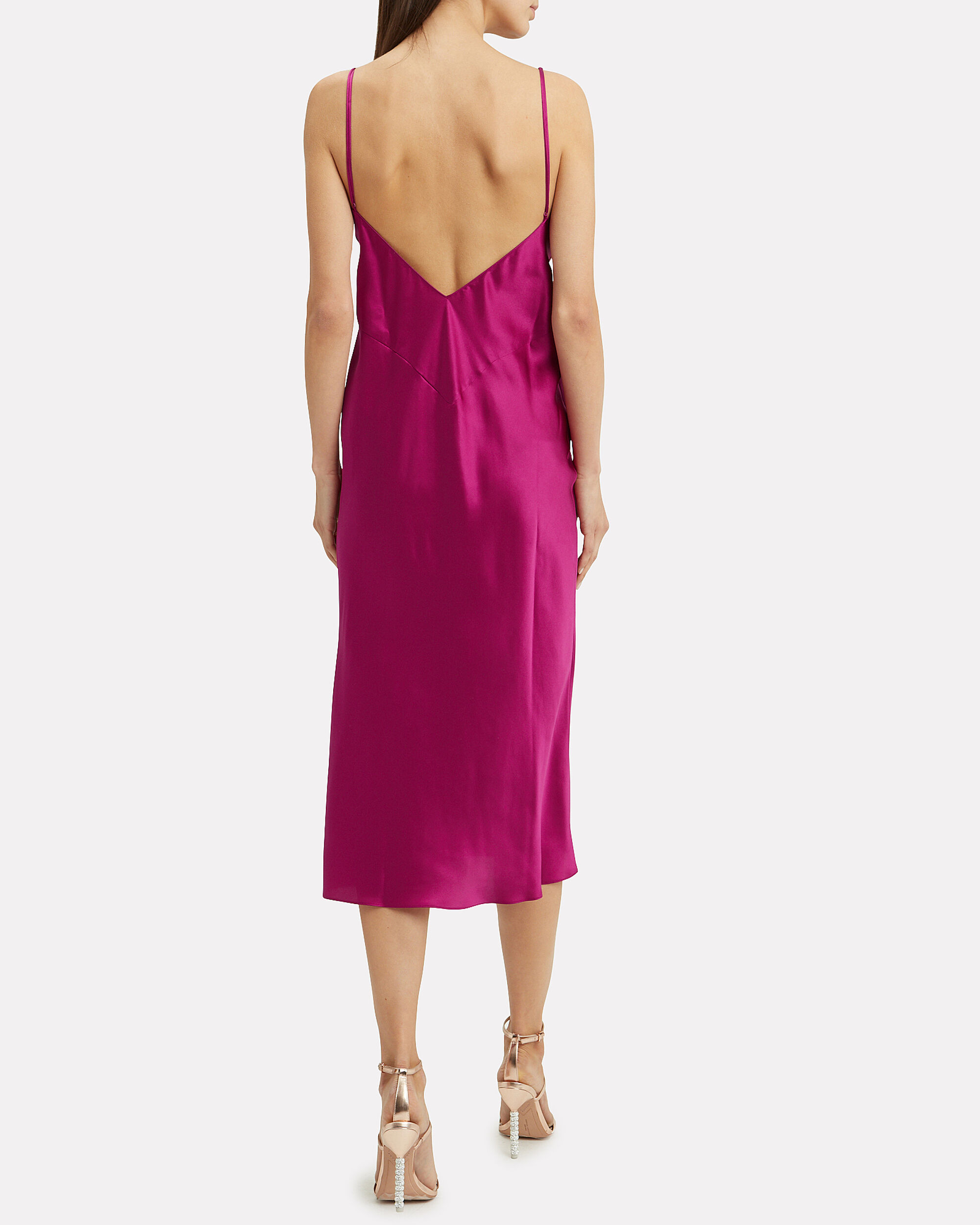 Issa Dark Pink Slip Dress, DARK PINK, hi-res