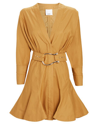 Bastor Poplin Mini Dress, GOLD, hi-res