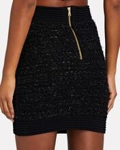 Lurex Knit Tweed Mini Skirt, BLACK, hi-res