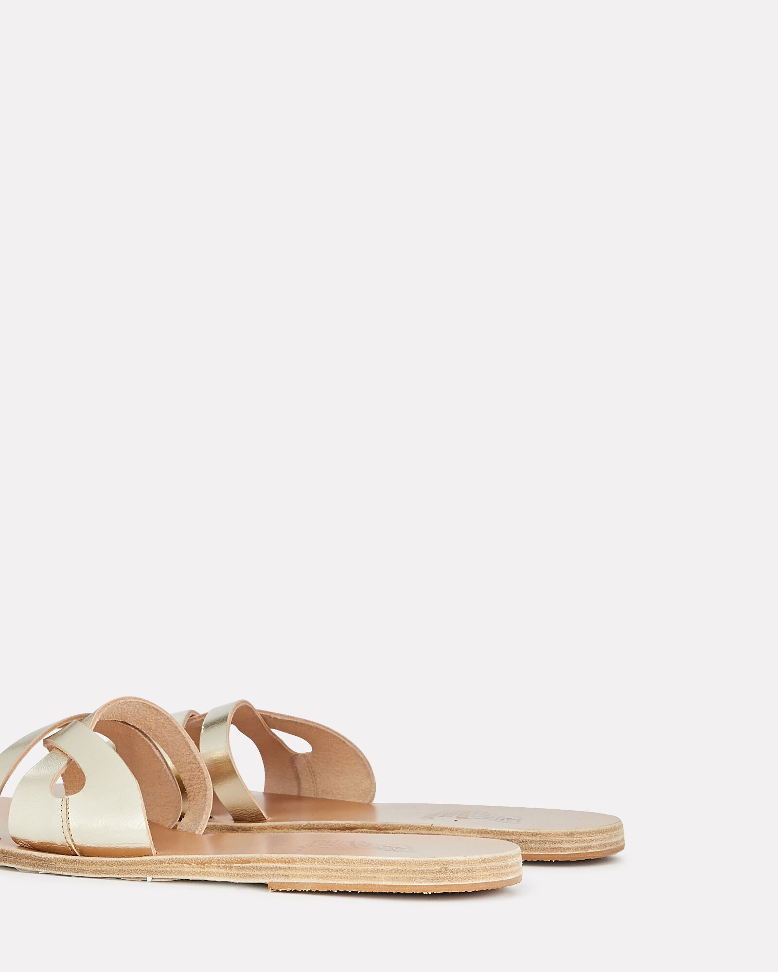 Apiron Metallic Leather Sandals, GOLD, hi-res