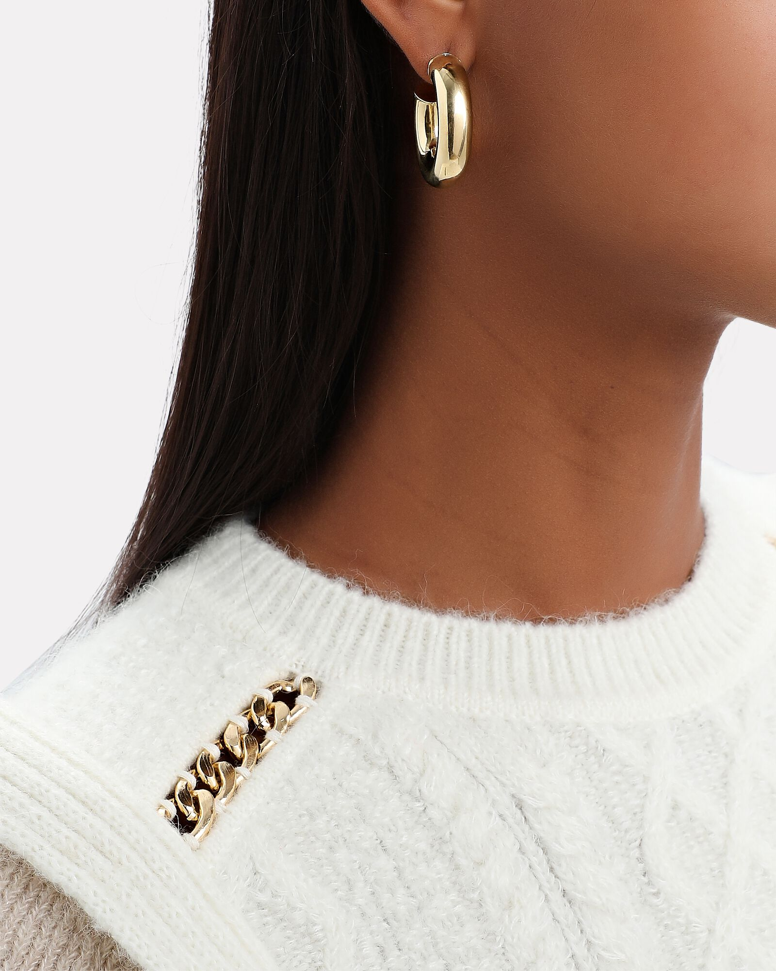 Mylena Tube Hoop Earrings, GOLD, hi-res
