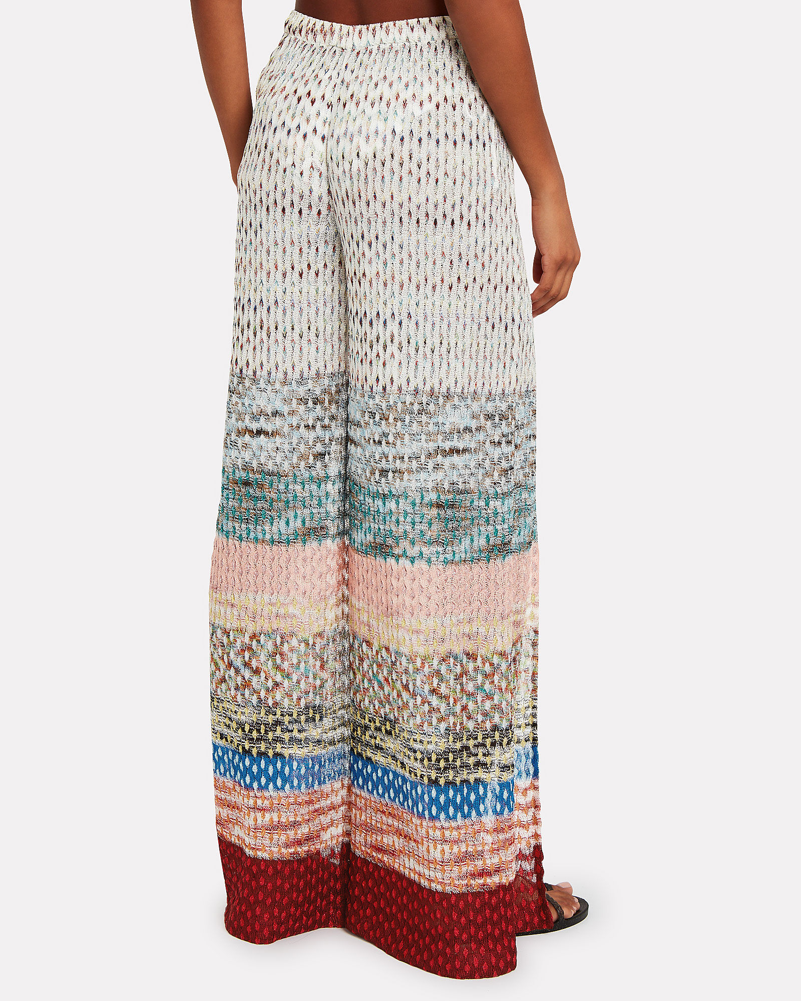 Wide Leg Knit Pants, MULTI, hi-res