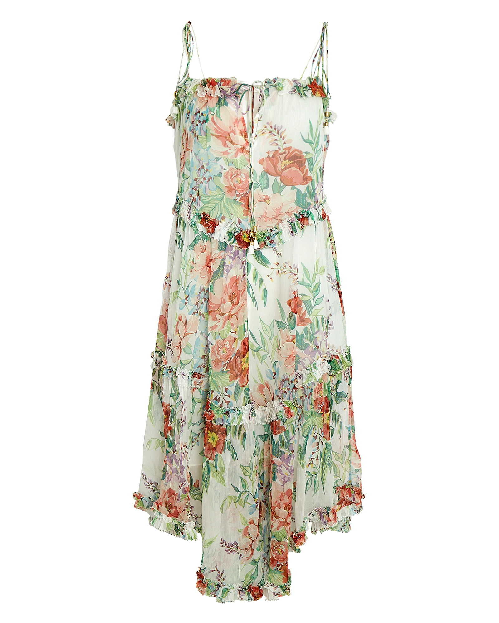 Bellitude Floral Tie-Shoulder Midi Dress, MULTI, hi-res