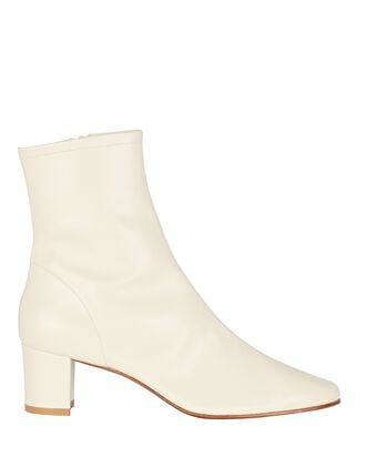 Sofia Leather Ankle Boots, WHITE, hi-res