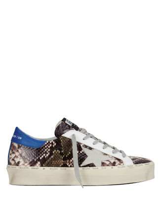 Hi Star Snakeskin Embossed Sneakers, SNAKESKIN LEATHER, hi-res
