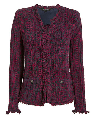 Ikaterina Two-Tone Knit Jacket, RED/BLUE, hi-res
