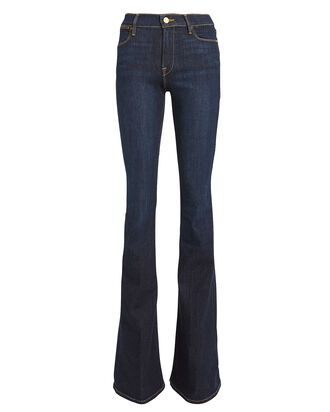 Le High Flared Jeans, DARK INDIGO DENIM, hi-res