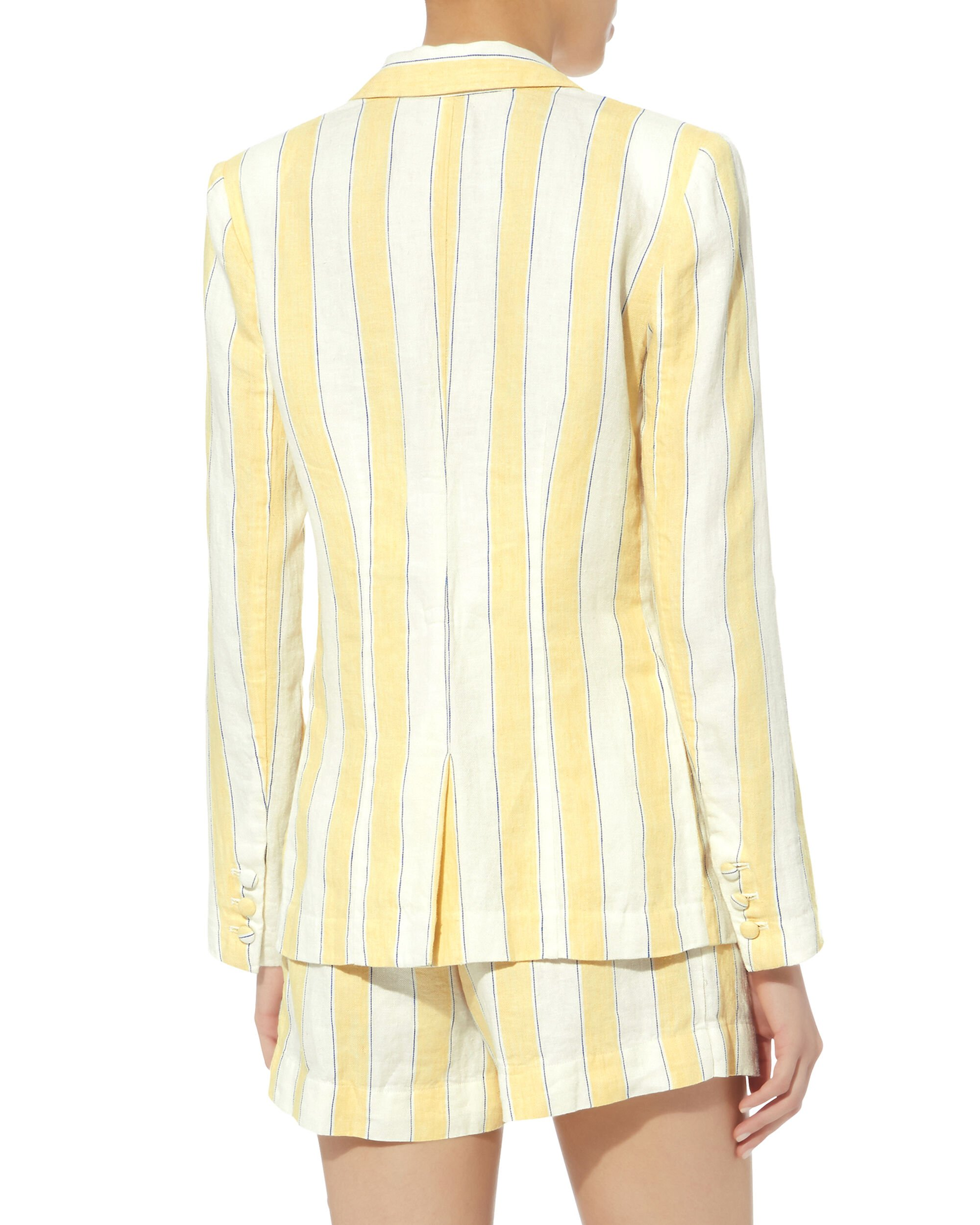 Linen Striped Blazer, MULTI, hi-res