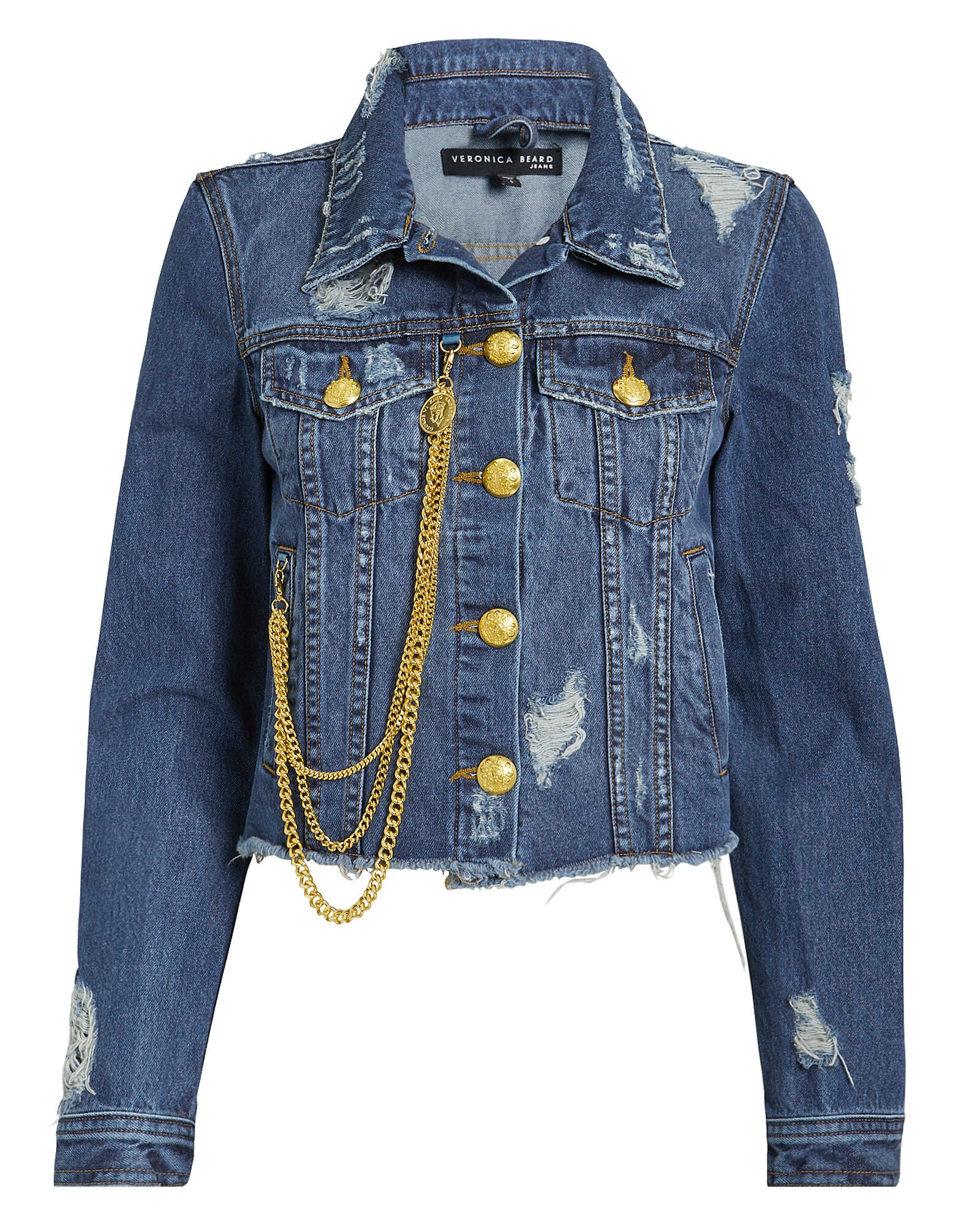 3a59e77b Cara Chain Denim Jacket, MEDIUM WASH DENIM, ...