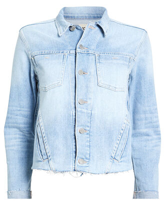 Janelle Cropped Denim Jacket, LIGHT WASH DENIM, hi-res