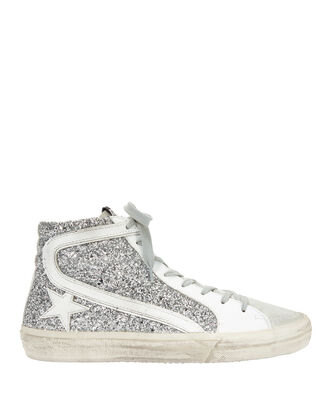 Star Glitter High-Top Sneakers, SILVER, hi-res