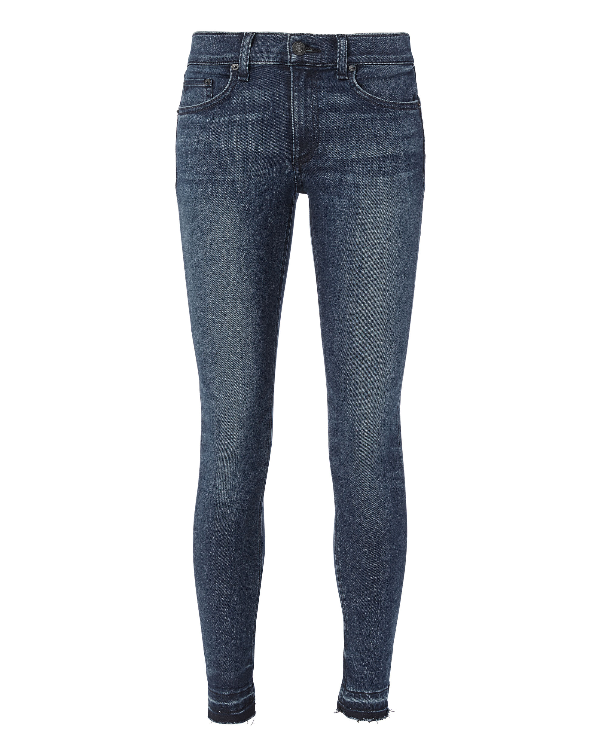 Alembic Two-Tone Hem Jeans, DENIM-DRK, hi-res