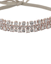 Monarch Mayfair Crystal and Leather Choker, METALLIC, hi-res