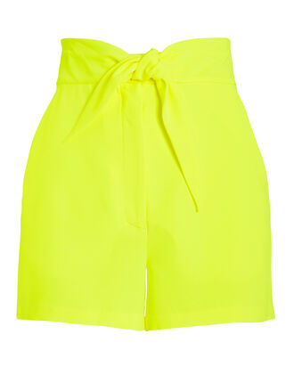 Kerry Bow Shorts, YELLOW, hi-res