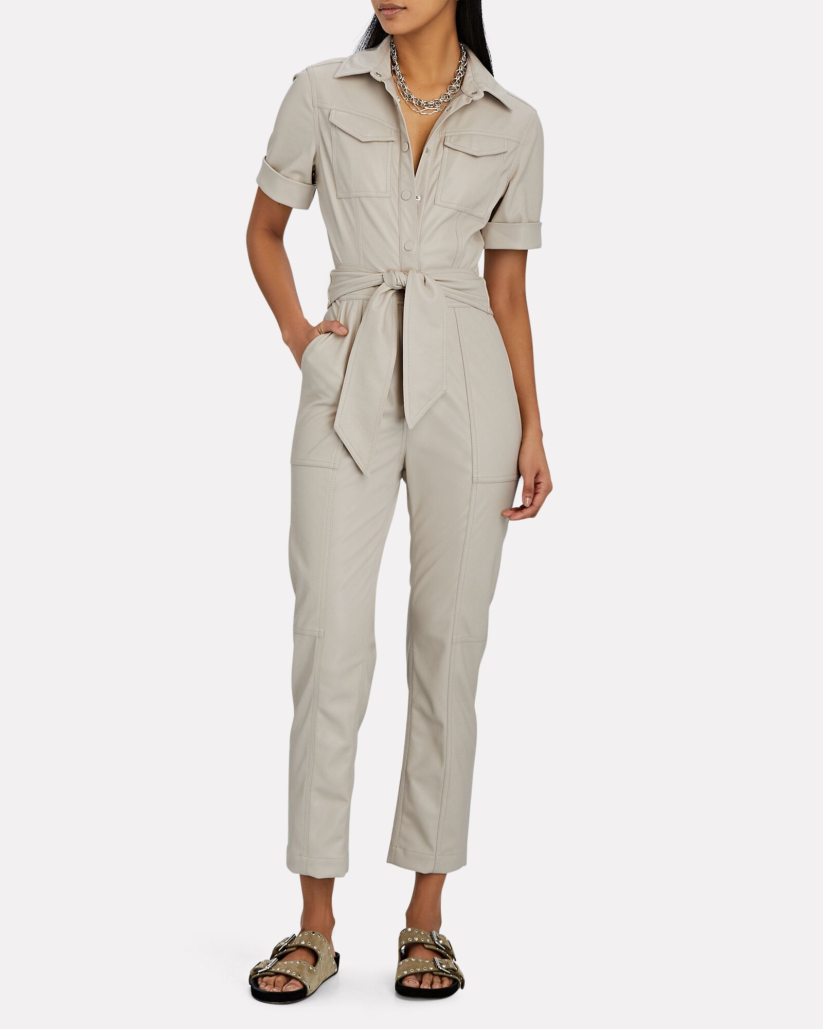 Maddy Vegan Leather Jumpsuit, IVORY, hi-res