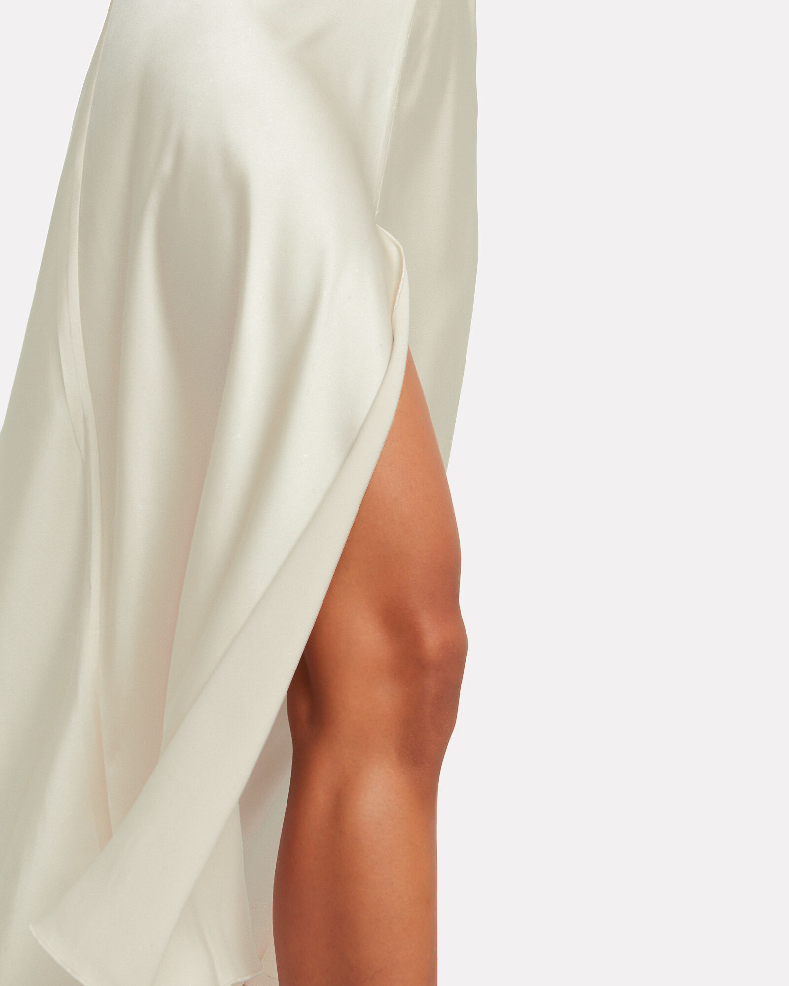 Satin Slip Dress, SAND, hi-res