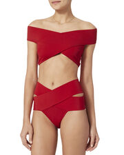 Lucette Red One Piece Swimsuit, RED, hi-res