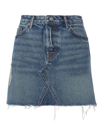 Eva Denim Mini Skirt, BLUE DENIM, hi-res