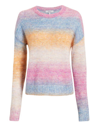 Camille Stripe Sweater, RAINBOW STRIPE, hi-res