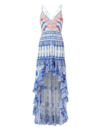 Ionic High-Low Dress, BLUE-MED, hi-res