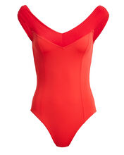Serena One-Piece Swimsuit, RED, hi-res