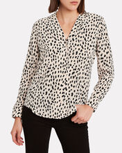 Rebel Cheetah-Printed Silk Shirt, BLUSH/CHEETAH, hi-res