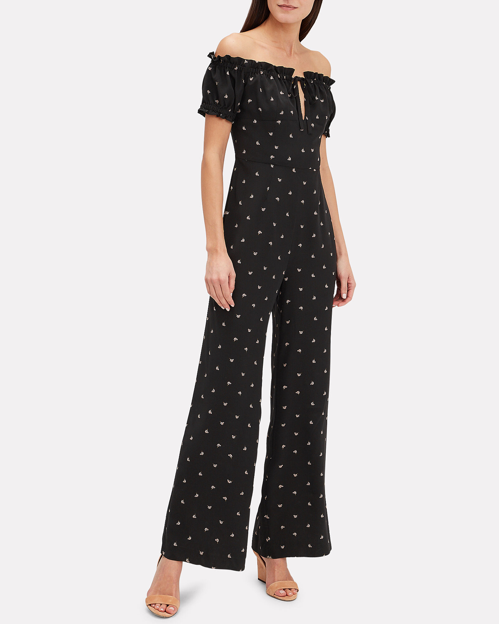 Annabel Silk Jumpsuit, BLACK, hi-res