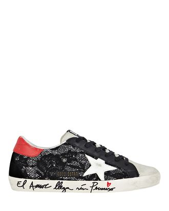 Superstar Lace Low-Top Sneakers, BLACK, hi-res