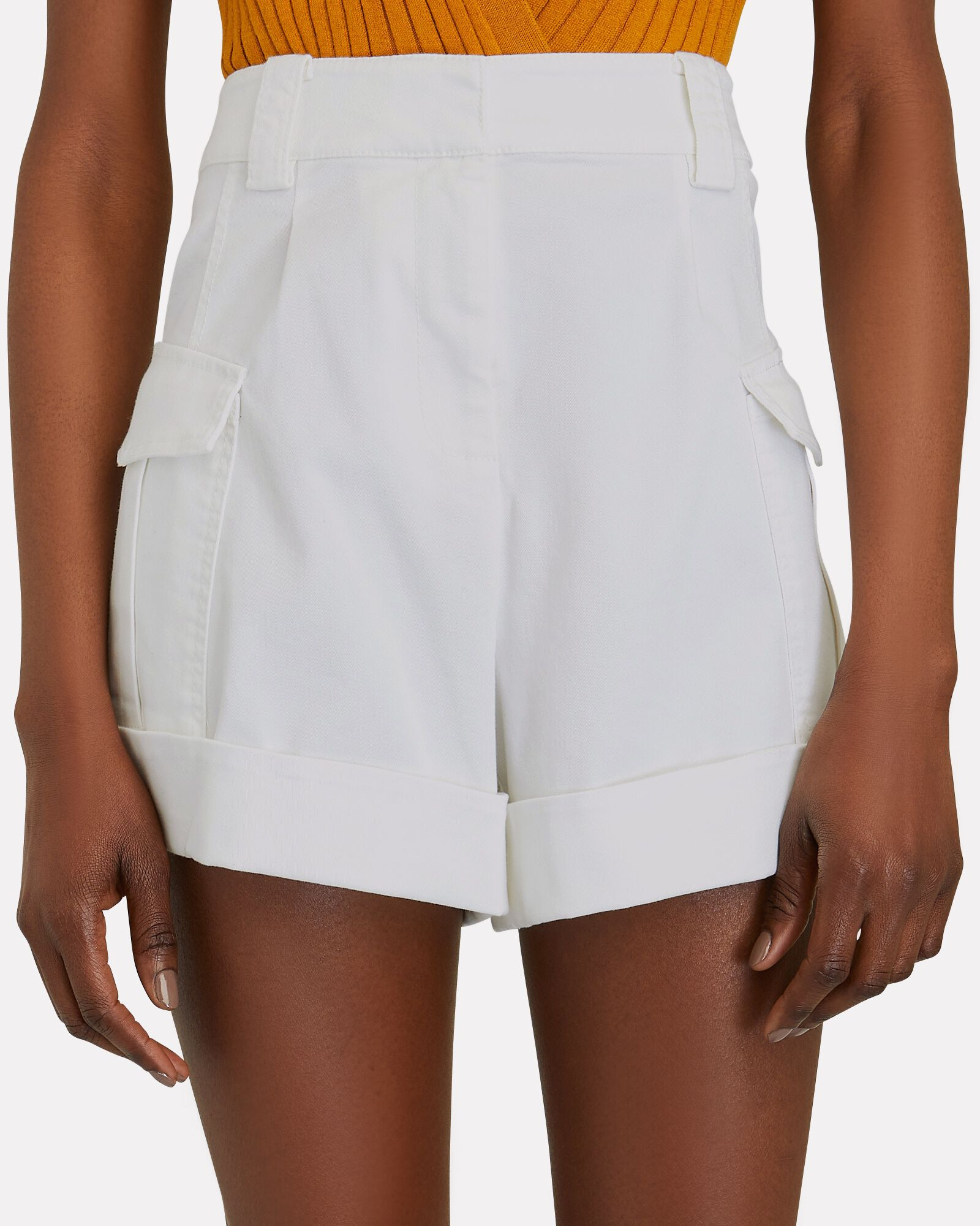 Ryder Cuffed Cargo Shorts, WHITE, hi-res