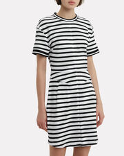 Striped T-Shirt Dress, WHITE/BLACK, hi-res