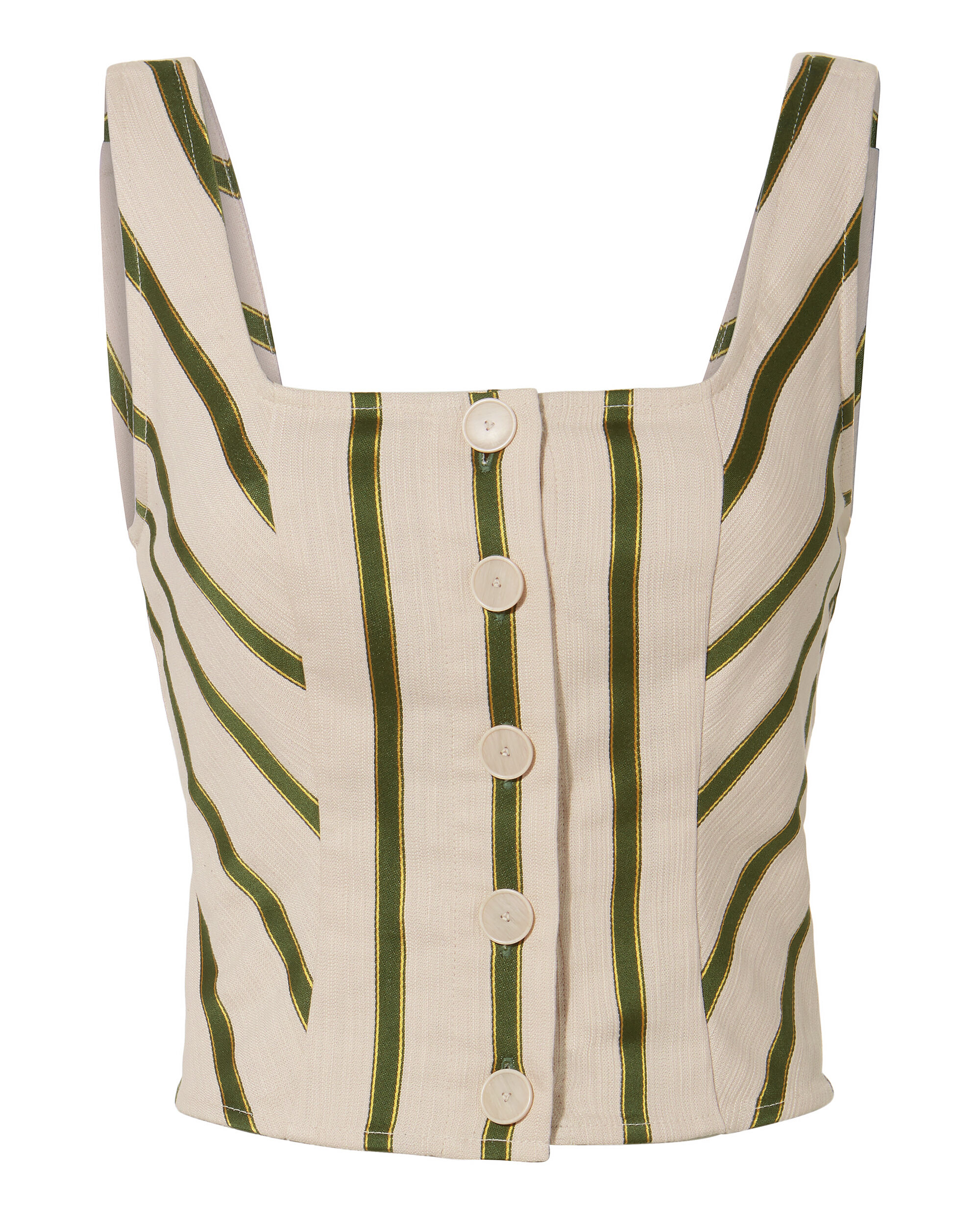Mirella Striped Bustier, IVORY/GREEN, hi-res