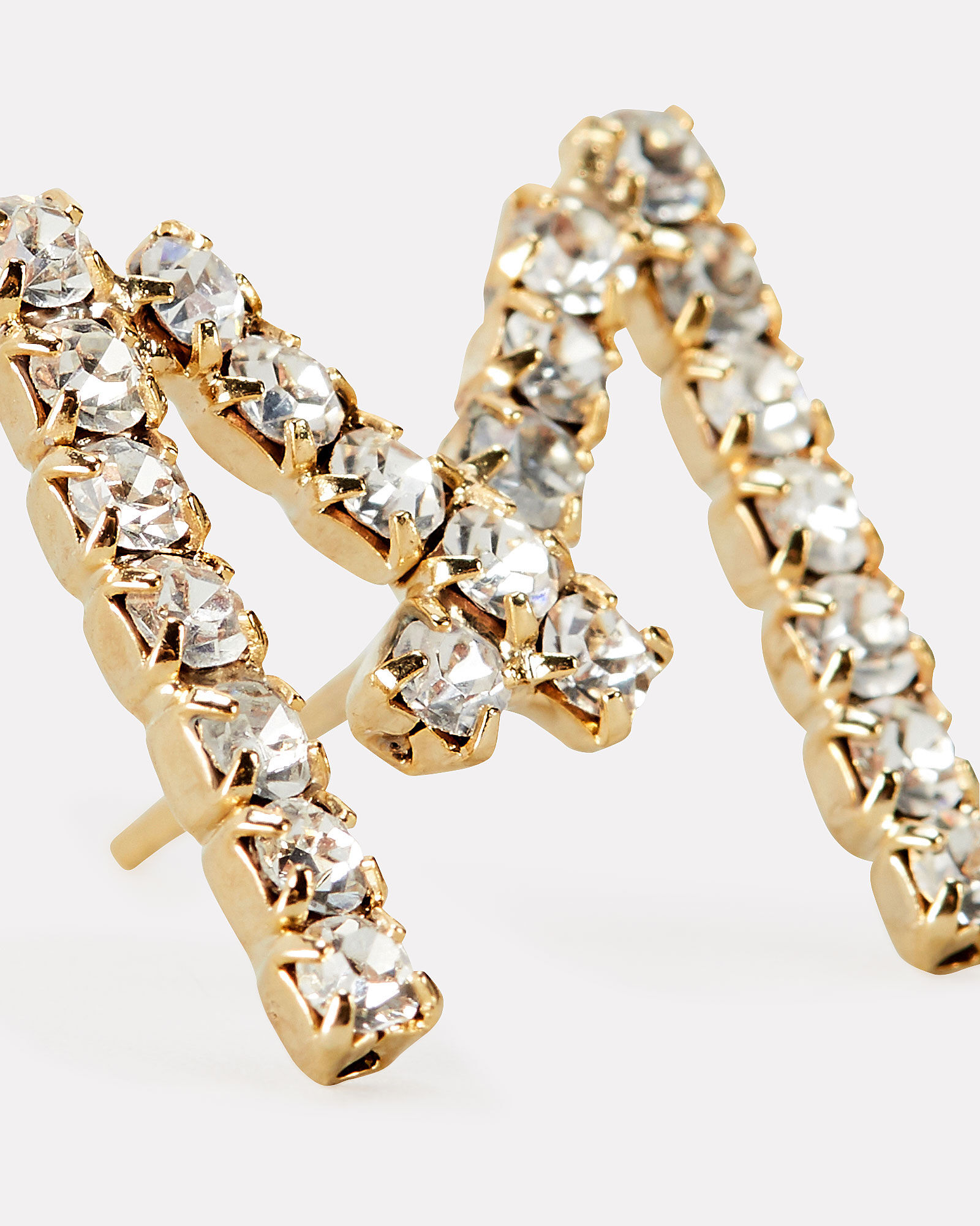 M Lettere Crystal Initial Earring, CLEAR, hi-res