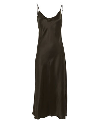 Taylor Silk Slip Dress, OLIVE, hi-res