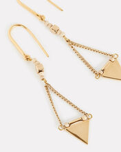 Beaded Triangle Drop Earrings, GOLD, hi-res