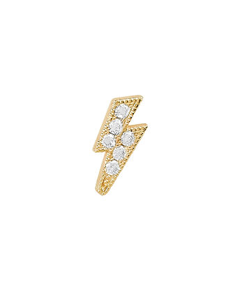 Lightning Bolt Stud, GOLD, hi-res
