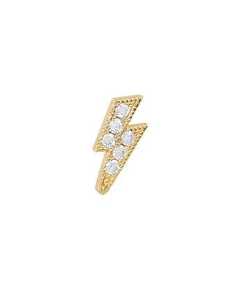 Lightning Bolt Single Stud Earring, GOLD, hi-res