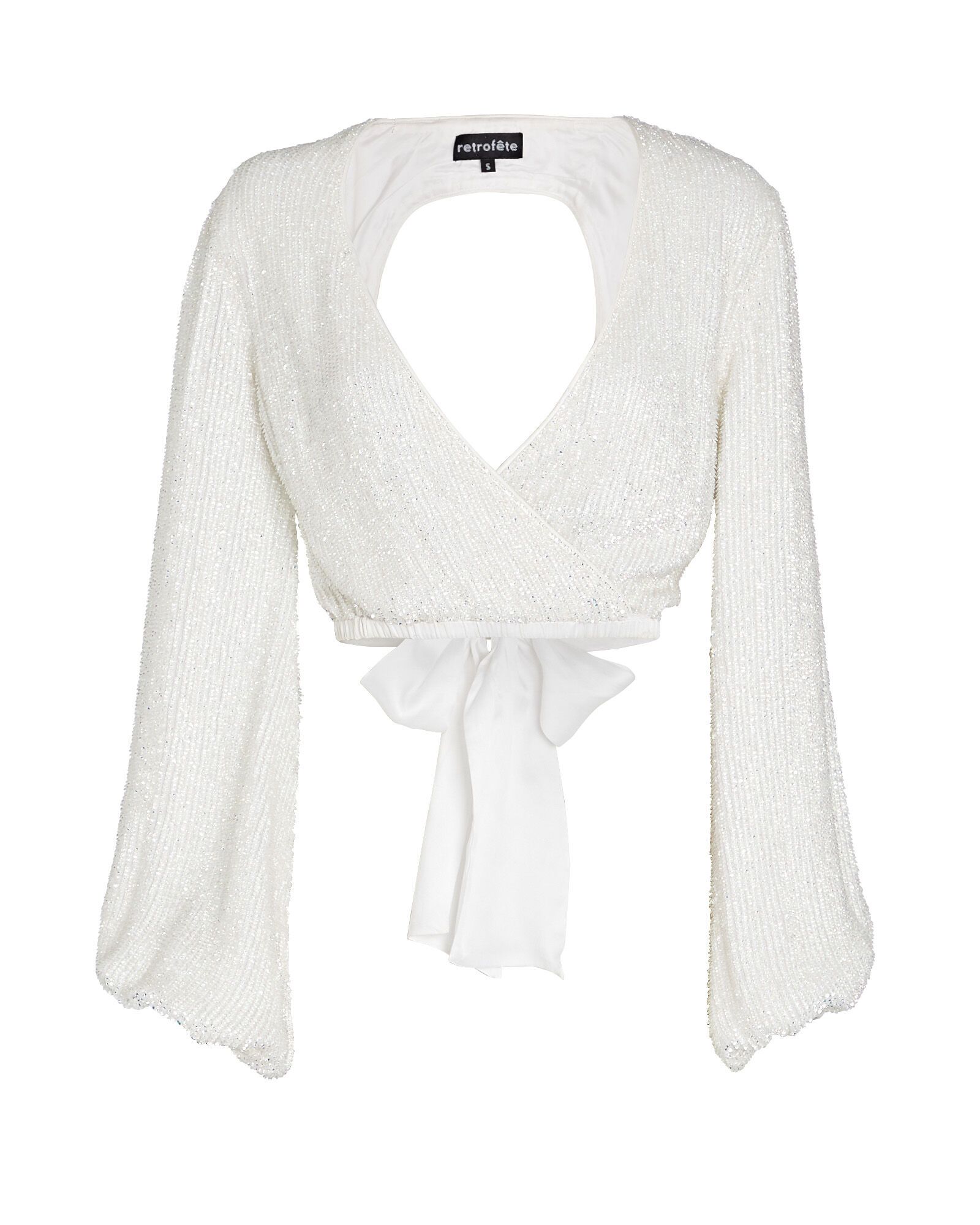Viva Sequin Blouse, WHITE, hi-res