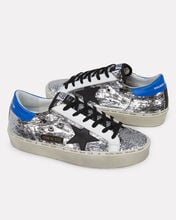 Hi Star Sequin Leather Sneakers, SILVER, hi-res