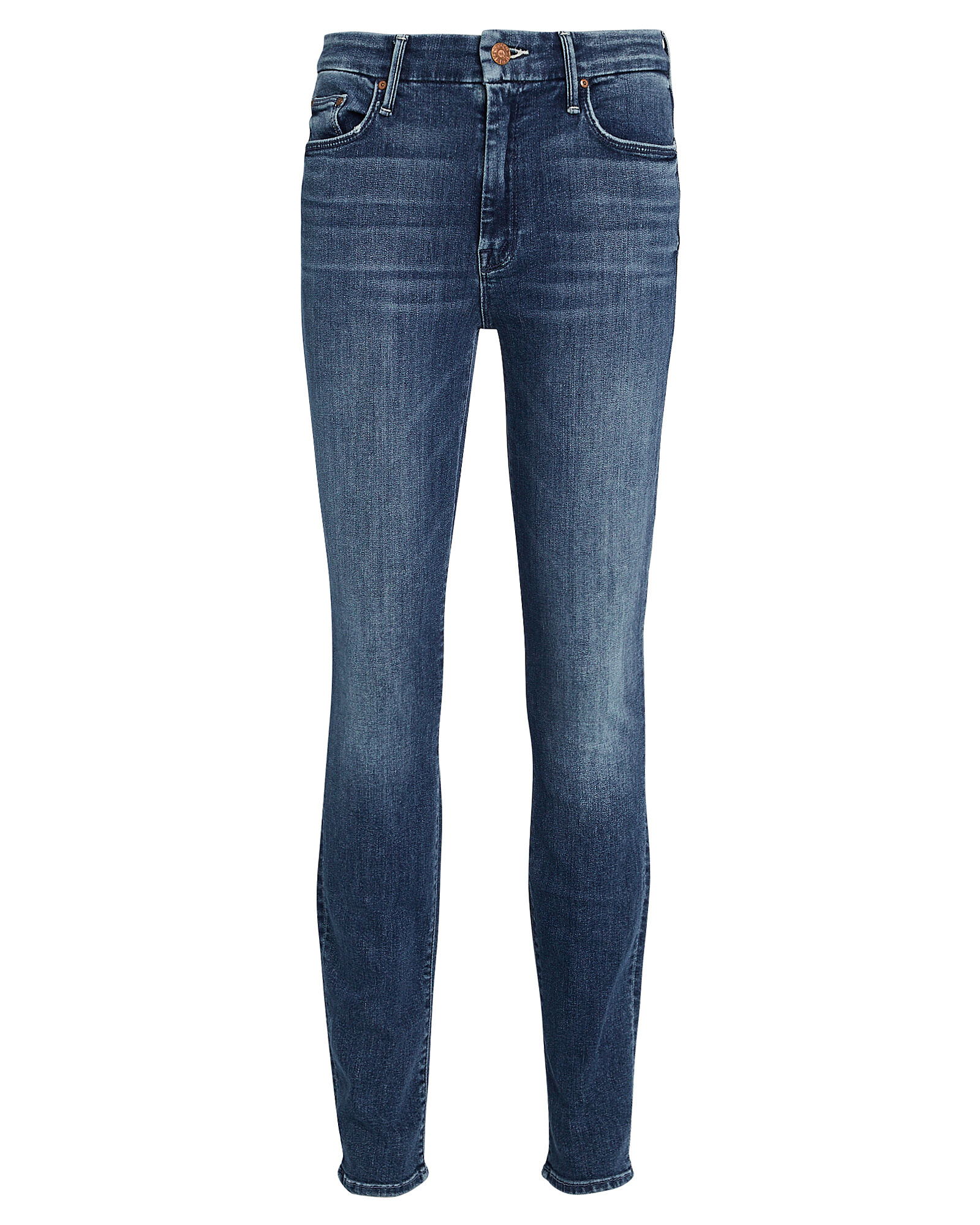 The Looker High-Waist Skinny Jeans, MID-BLUE DENIM, hi-res