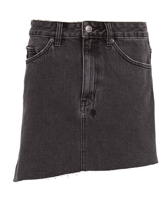 Sloane Asymmetrical Denim Skirt, CEMENT GREY, hi-res