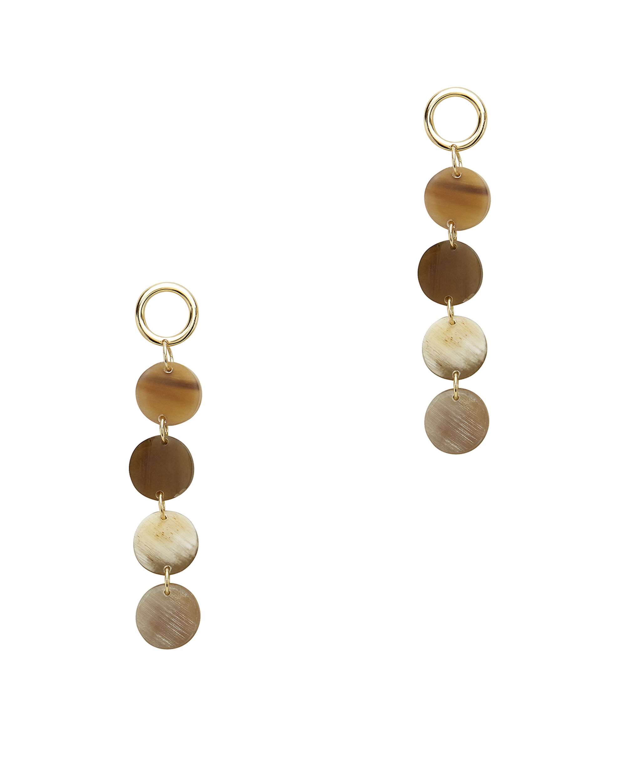 Horn Layered Earrings, IVORY, hi-res
