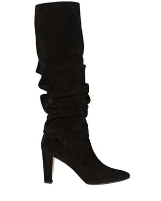 Shushanhi Slouch Suede Knee-High Boots, BLACK, hi-res