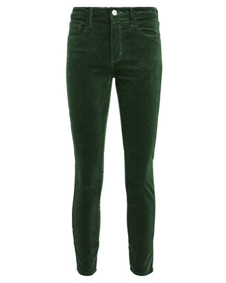 Margot High-Rise Velvet Jeans, GREEN, hi-res