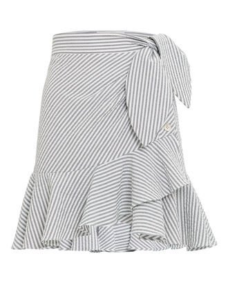 Kaia Ruffle Mini Skirt, GREY/WHITE, hi-res