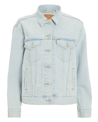 Ex-Boyfriend Denim Trucker Jacket, LIGHT BLUE DENIM, hi-res