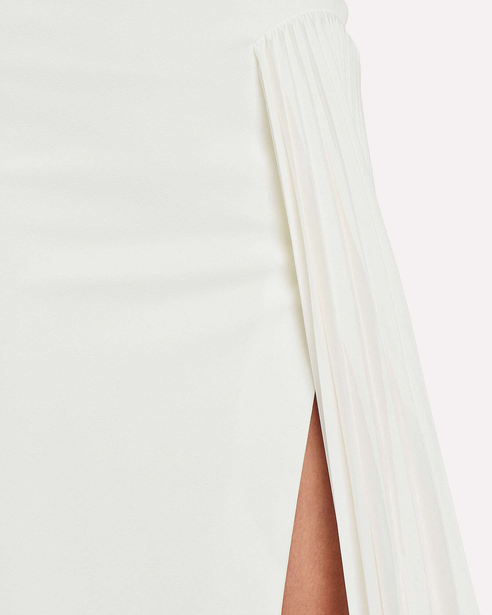 Dolly Strapless Pleated Gown, IVORY, hi-res