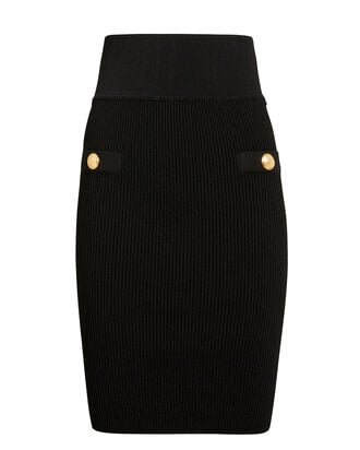Two Pocket Skirt, BLACK, hi-res