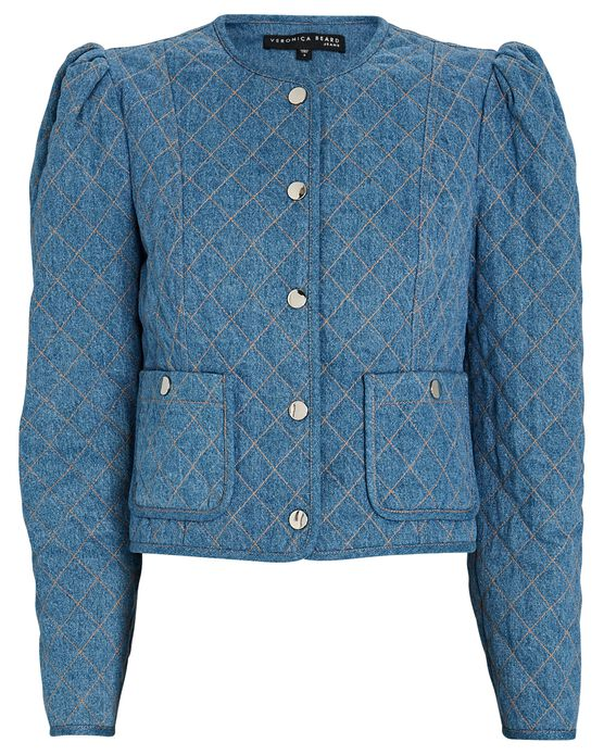 Veronica Beard Camilla Quilted Denim Jacket